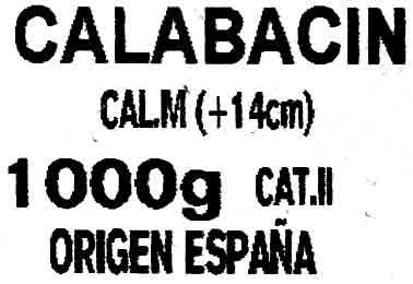 Calabacines - Ingredientes - es