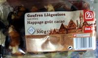 Gaufres Liégeoises sucrées Nappage goût cacao - Produit - fr