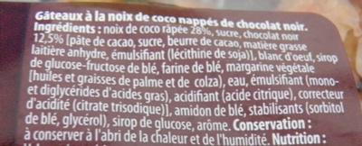 Maxi rochers Coco Nappés de Chocolat Noir - Ingrédients