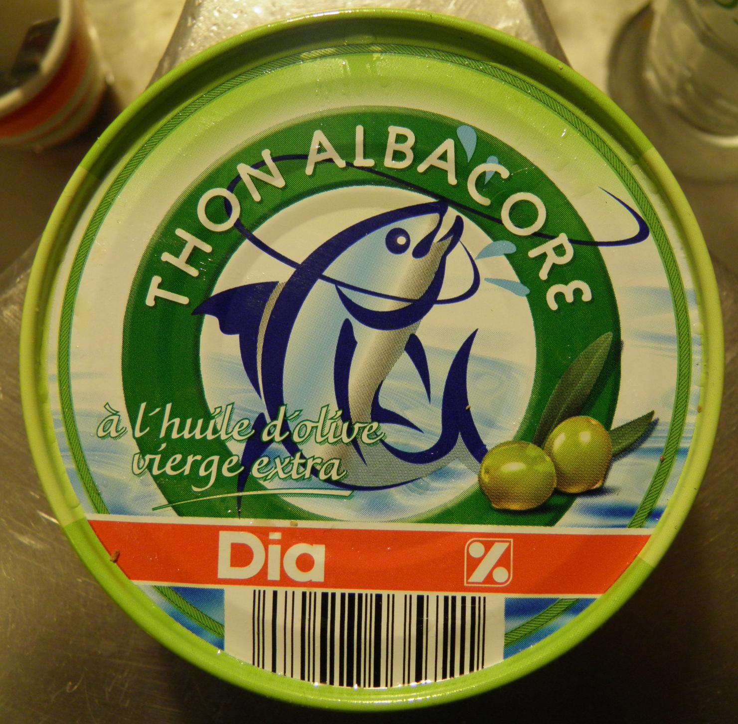 Thon Albacore (à l'huile d'olive vierge extra) - Produit - fr