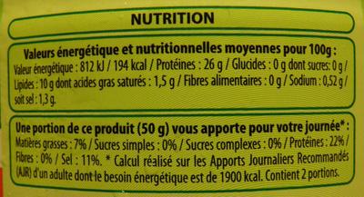 Thon Albacore (à l'huile d'olive vierge extra) - Informations nutritionnelles - fr