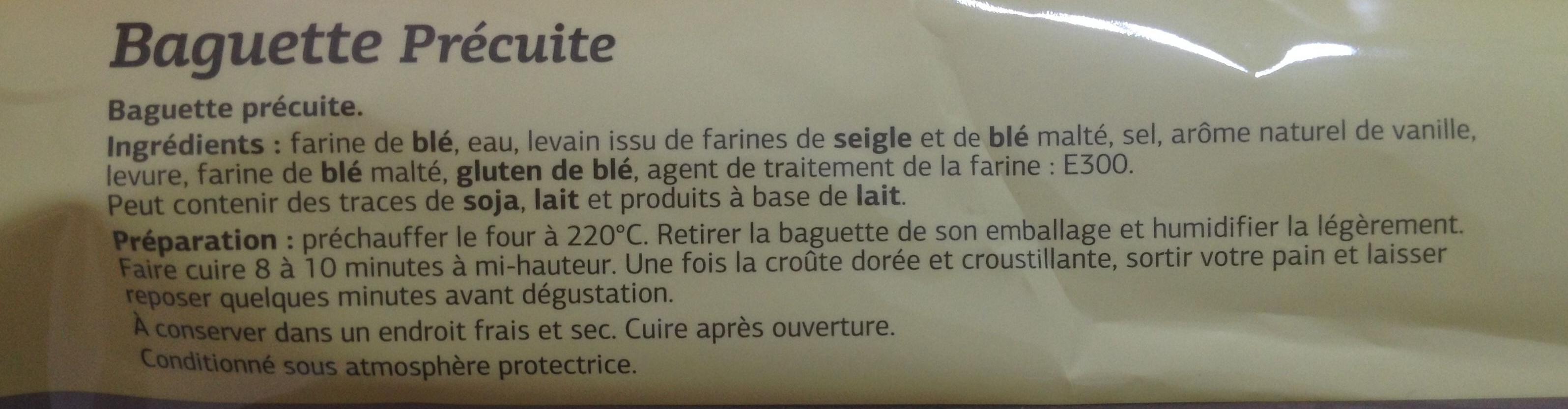 Baguette précuite - Produit