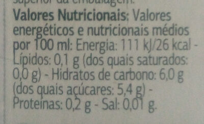 Jus De Fruit Frutos Rojos - Nutrition facts