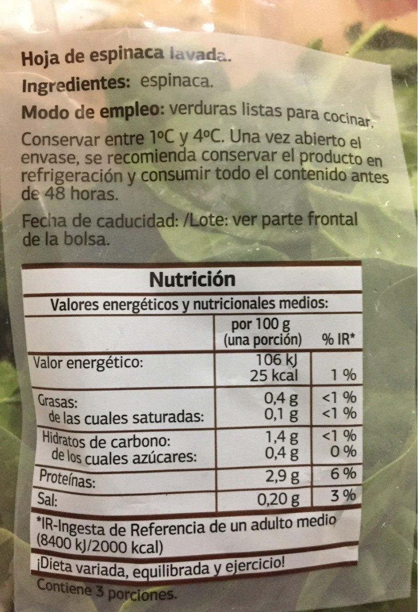 Espinaca - Ingrédients - fr
