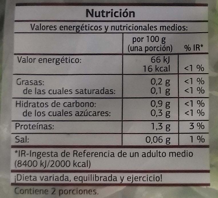 Ensalada variada - Informations nutritionnelles - es