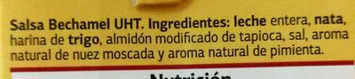 Salsa Bechamel - Ingredientes