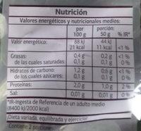 Canónigos - Dia - 100 g - Informations nutritionnelles