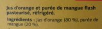 Pur jus Orange Mangue - Ingrédients - fr