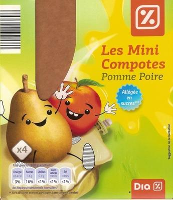 Les mini compotes Pomme Poire - Product - fr