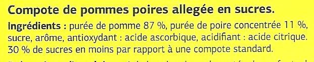 Les mini compotes Pomme Poire - Ingrediënten - fr