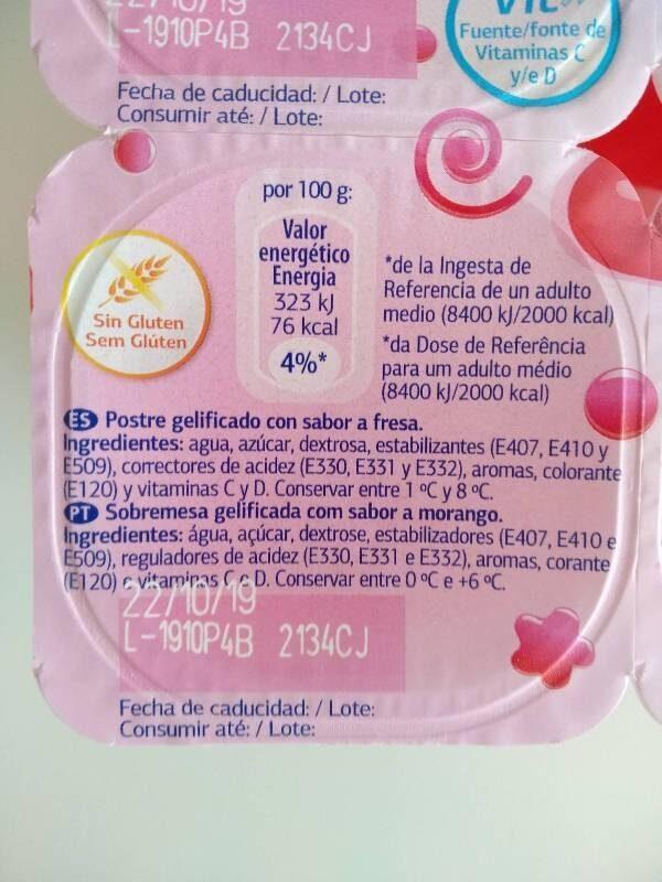 Gelatinas - Ingredientes