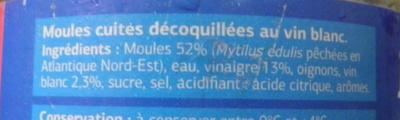 Moules apéritives - Ingredients - fr