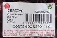 Cerezas - Ingredients - es