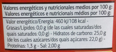Salsa Kétchup - Nutrition facts