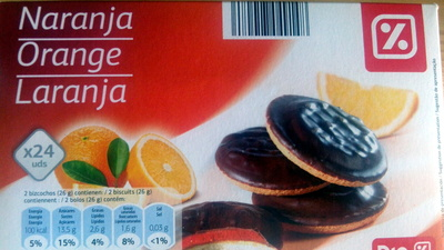 Galletas de chocolate rellenas de naranja - Product