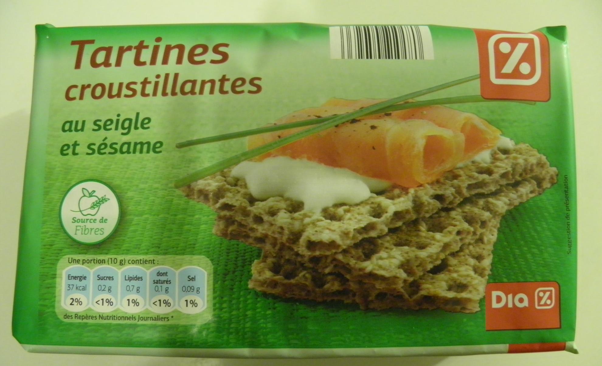 Tartines croustillantes au seigle et sésame Dia - Produit - fr