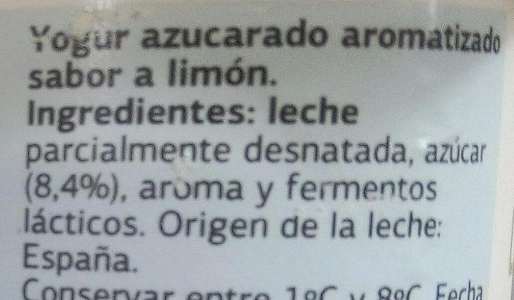 Yogur sabor limón - Ingredientes - es