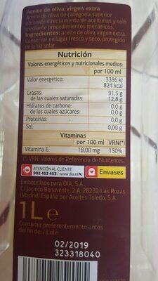 Aceite de oliva Virgen extra Dia - Ingrédients - es