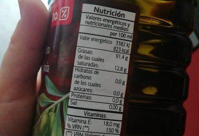 Aceite de oliva Virgen extra Dia - Informations nutritionnelles - es