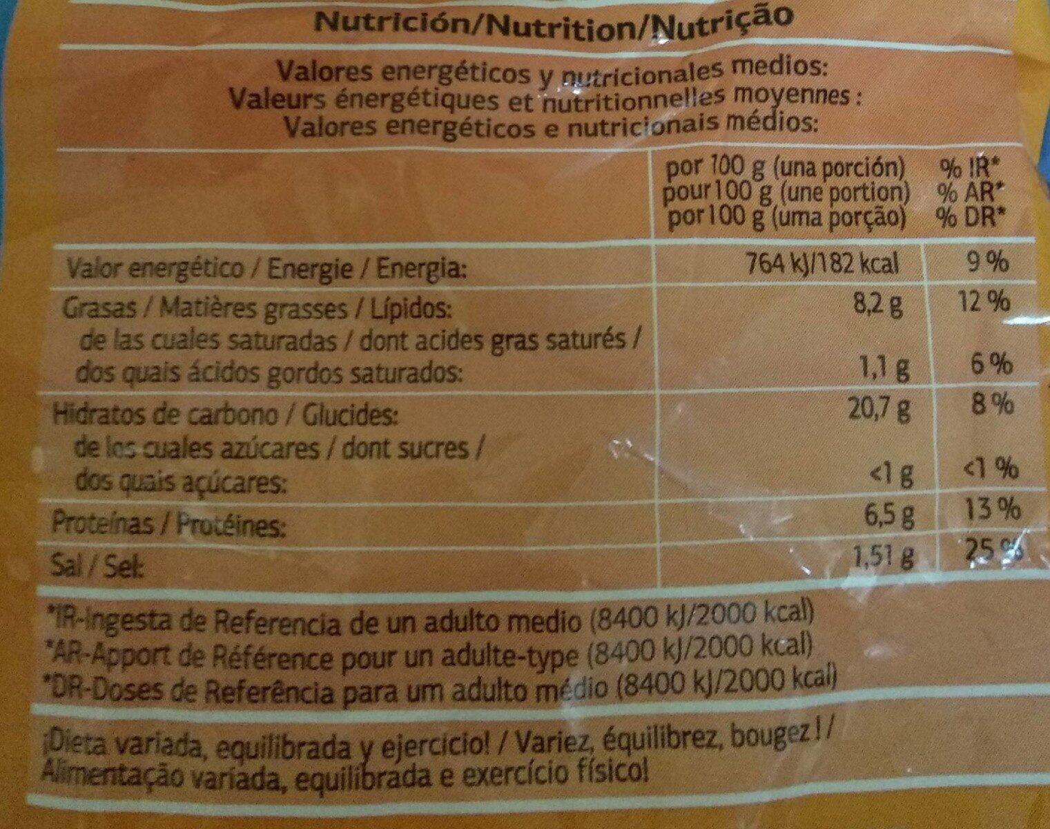 Anillas a la romana - Informations nutritionnelles - fr