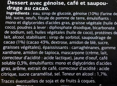 Tiramisu (x 2) - Ingrédients - fr