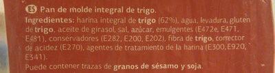 Pan integral de molde - Ingredientes - es
