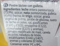 Natillas con galleta - Ingredients - es