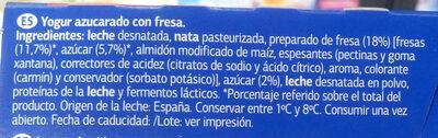 Yogur al estilo griego con fresas - Ingredients