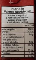 Batido cacao - Informació nutricional - es