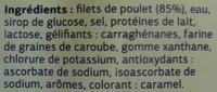 Blanc de Poulet Fumé (Qualité Choix) 4 Tranches - Ingredients