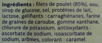 Blanc de Poulet Fumé (Qualité Choix) 4 Tranches - Ingredients - fr