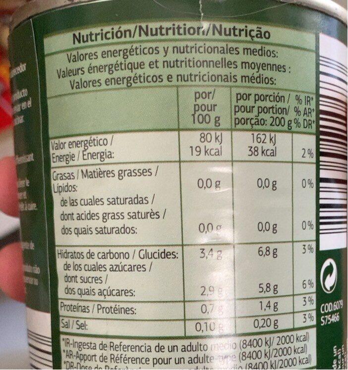 Tomate pelado inteiro - Nutrition facts - pt