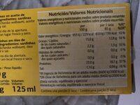 Sardines En Aceite Végétal - Informations nutritionnelles