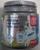 Chewing-gum goût menthe coeur liquide sans sucres - Product