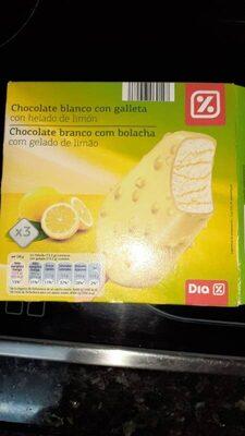 Chocolate blanco con galleta con helado de limón - Producto - es
