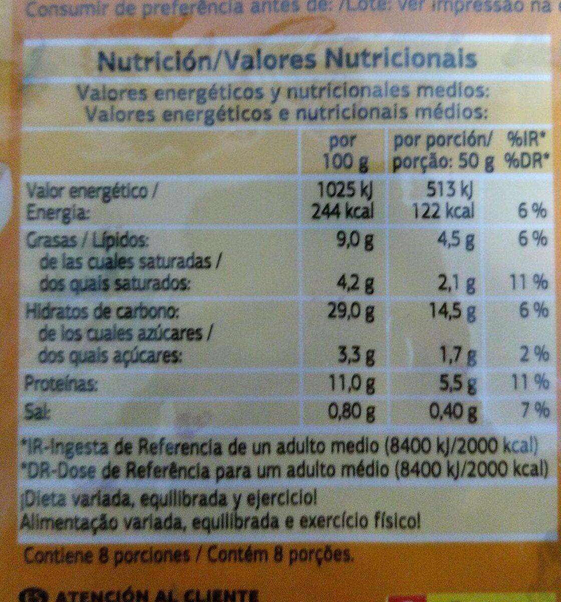 Pizza carbonara dia - Nutrition facts - pt