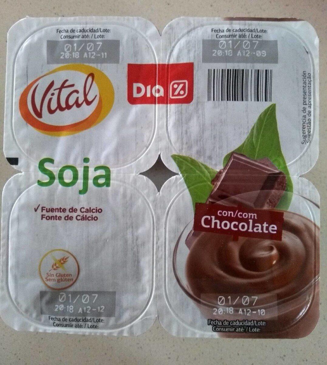 Vital postre de soja chocolate - Producto - es