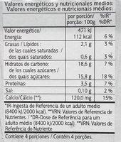 Vital soja chocolate - Informations nutritionnelles
