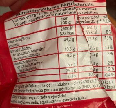 Cacahuetes con cáscara - Voedingswaarden - es