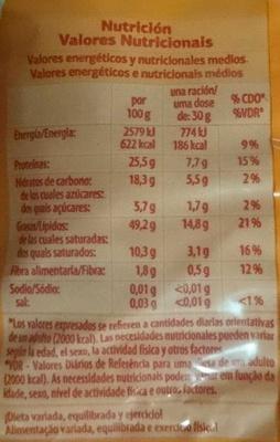Amendoins com casca - Nutrition facts