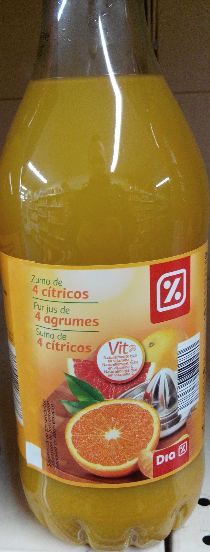 Pur jus de 4 agrumes - Produit - fr