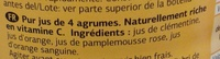 Pur jus de 4 agrumes - Ingredients