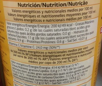 Pur jus de 4 agrumes - Nutrition facts