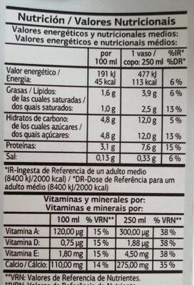 Vital - Información nutricional - es