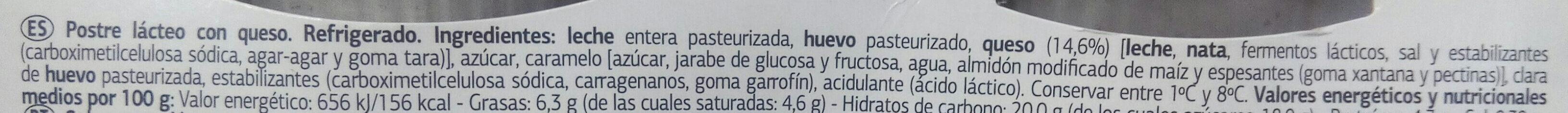 Flan de queso - Ingredients