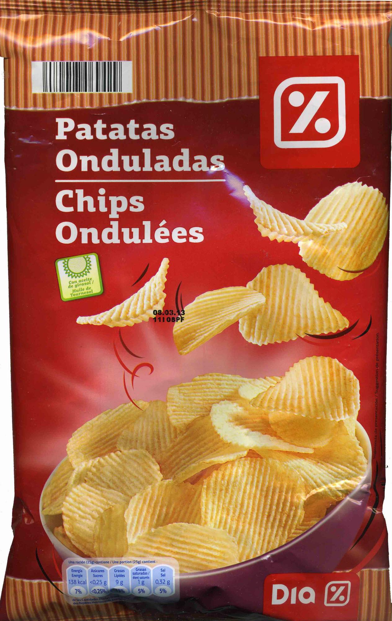 Patatas Fritas Onduladas - Produit - fr