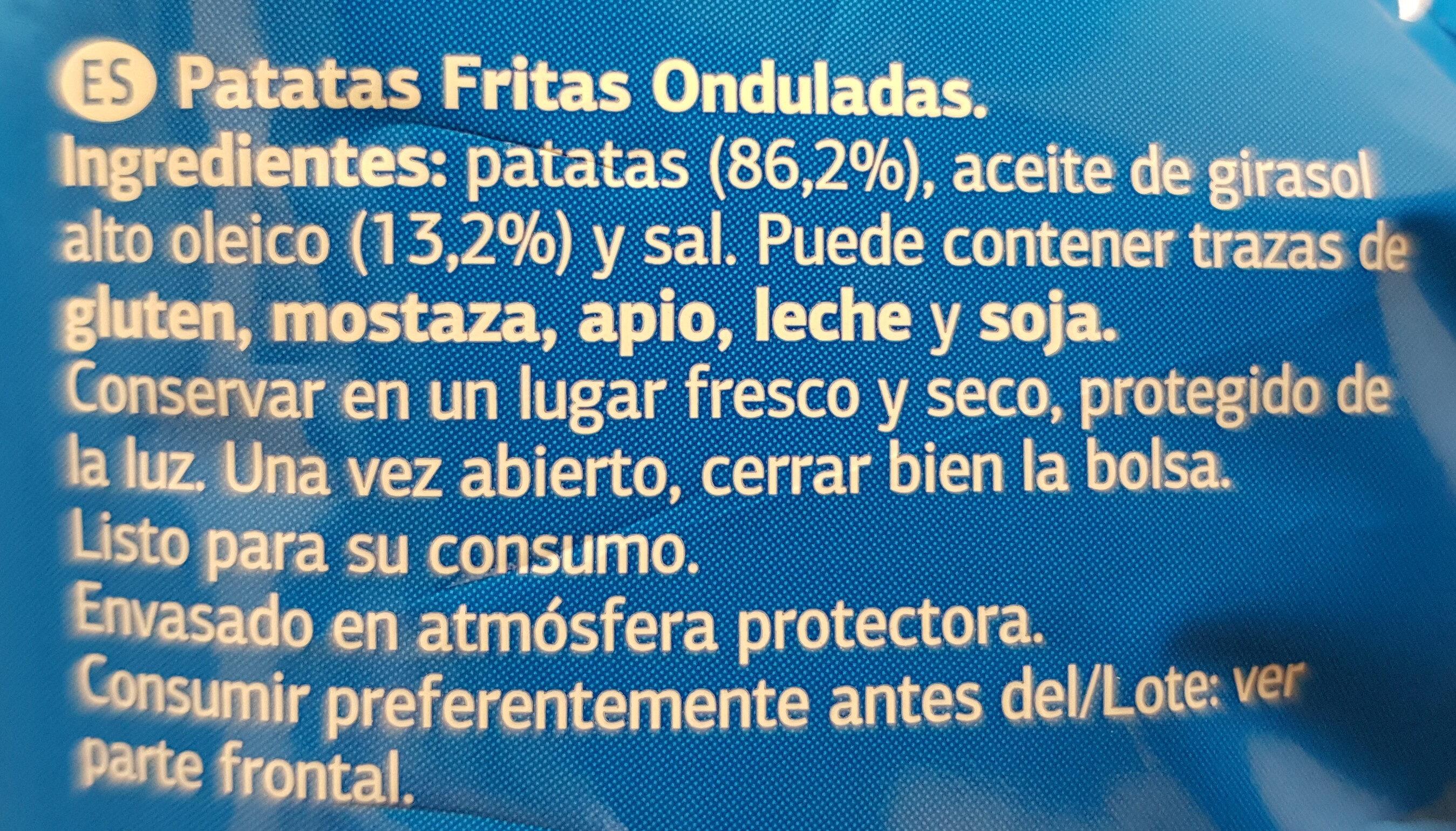 Patatas Fritas Onduladas - Ingredients - es