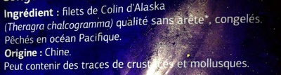 Filets de Colin d'Alaska congelés - Ingrediënten - fr