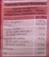 Mazapan de soto (Dia) - Información nutricional