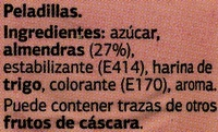 Peladillas - Ingredients - es